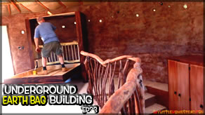 Weekly Peek | Underground Earthbag Building Ep 33 | Some Upstairs Finishing Touches