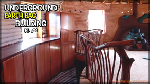 Weekly Peek | Underground Earthbag Building Ep 28 | Earthbag Dome Fail & Installing Cabinets