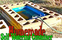 Homemade Self Water Brick Container Garden fed with Rain Water Barrel Thumbnail