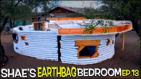 Decking/Sheeting for Patio Roof Construction | Shae's Earthbag Bedroom Ep13 | Weekly Peek