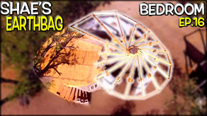 Reciprocal Roof Construction Frame & Well Update  | Shae's Earthbag Bedroom Ep16 | Weekly Peek