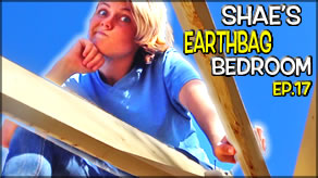Reciprocal Roof Frame Construction Complete!  | Shae's Earthbag Bedroom Ep17 | Weekly Peek