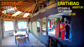 Cabin Window Frames & Big Ugly Wall is Gone! | Earthbag Kitchen & Bath Ep26| Cabin Ep3