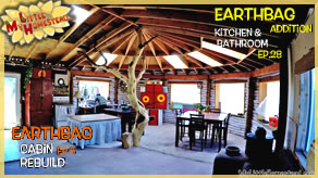 Ceiling Take Down & Top of Cabin Walls | Earthbag Kitchen & Bath Ep28| Cabin Ep5