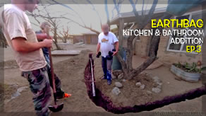 Installing the Sewer Pipe for the Toilet | Kitchen & Bathroom Earthbag Addition Ep3 | Weekly Peek