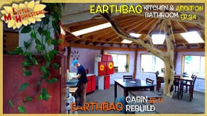Interior Paint, Roofing & Making Bathroom Cabinets | Earthbag Kitchen & Bath Ep34| Cabin Ep11