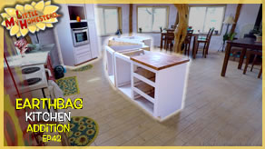 Island Cabinet, Design & Build Gaming Desk | Earthbag Kitchen Addition Ep42 | Weekly Peek