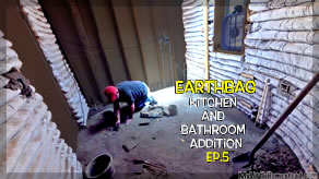 Bathroom Soil Cement, Electrical & Stucco | Kitchen & Bathroom Earthbag Addition Ep5 | Weekly Peek