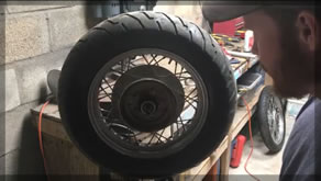 How To Balance a Motorcycle Tire | No Fancy Tools | Cheep And Esey