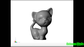 3d print model of a kitty cat