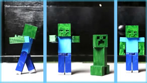 3D Printed Minecraft Zombie!