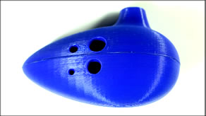3D Printed Ocarina Wind Instrument! [Thingiverse Print Review]