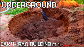 building constuction for an underground earthbag building